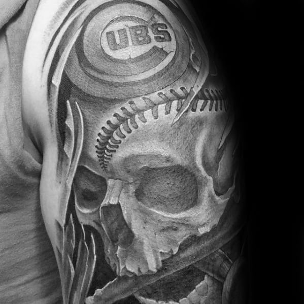 Baseball Half Sleeve Tattoo