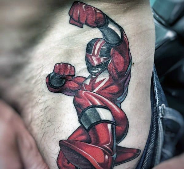 50 Power Rangers Tattoo Designs For Men Superpower Ink Ideas
