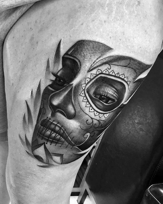 50 La Catrina Tattoo Designs For Men Mexican Ink Ideas