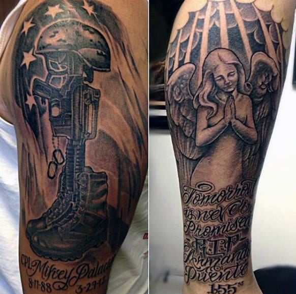 20 Military Upper Arm Tattoos Guys Ideas And Designs