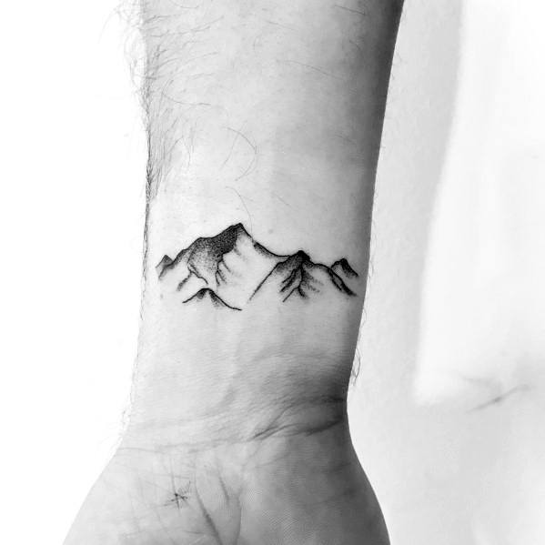 Simple Minimalist Mountain Tattoo