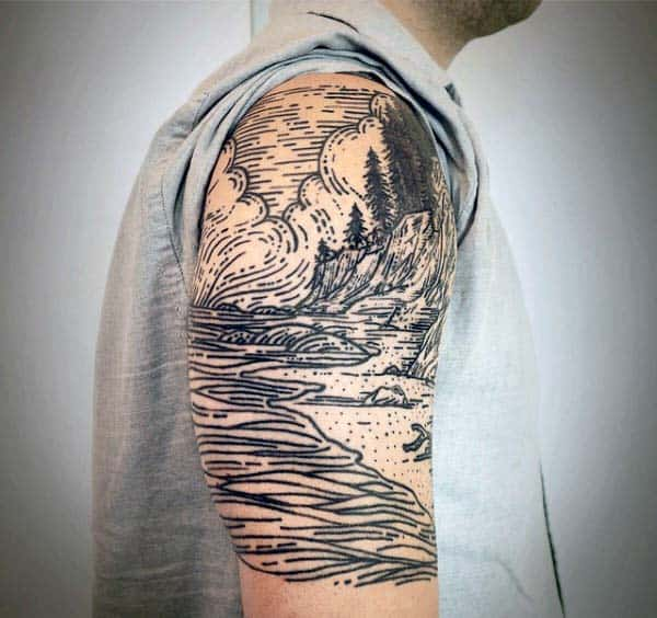 20 Nature Sleeve Tattoos For Men Ideas And Designs