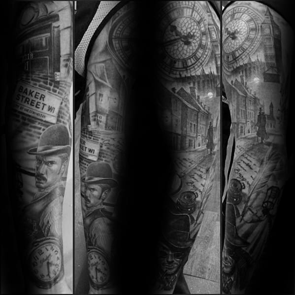 50 Sherlock Holmes Tattoo Designs For Men Detective Ideas