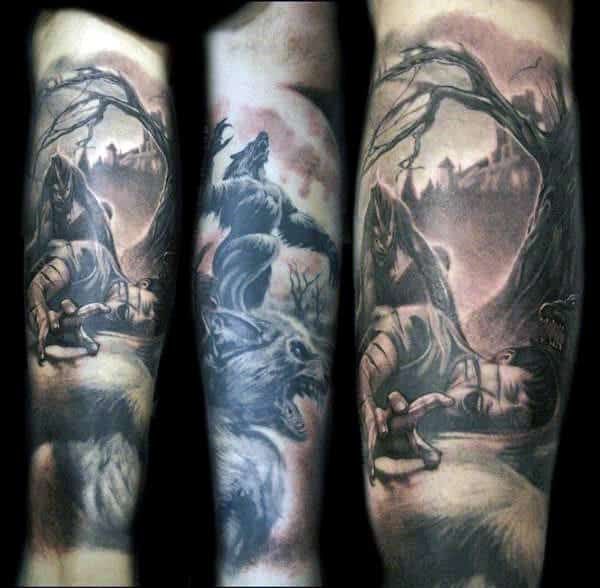 Half Sleeve Quarter Sleeve Harry Potter Tattoos