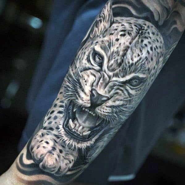 50 Snow Leopard Tattoo Designs For Men  Animal Ink Ideas