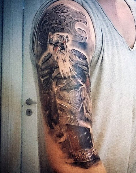 Half Sleeve Yggdrasil Tattoo