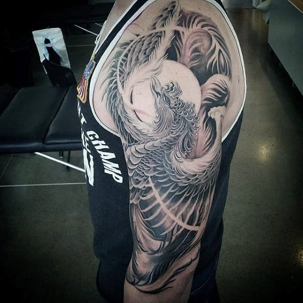 Phoenix Rising Tribal Real Tattoo