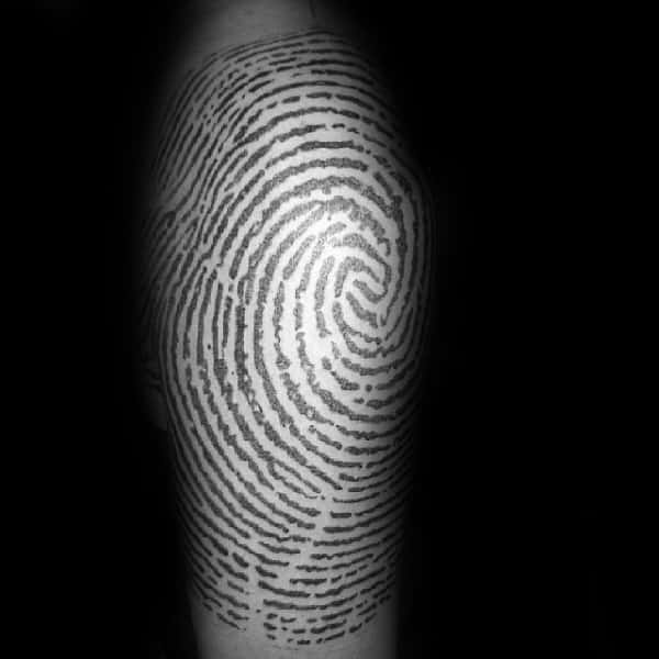 Top 40 Best Fingerprint Tattoos For Men Masculine Designs