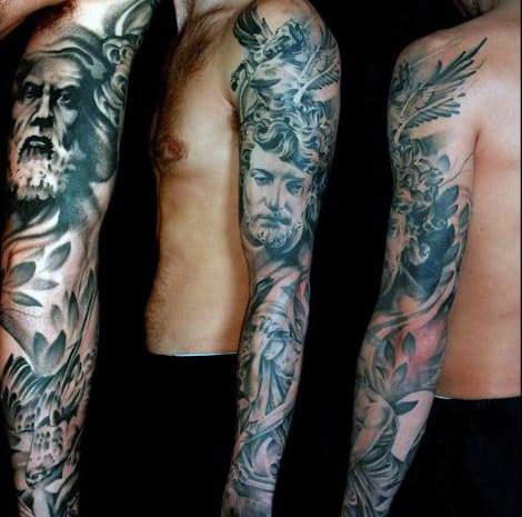 Portrait Sleeve Tattoo Designs
