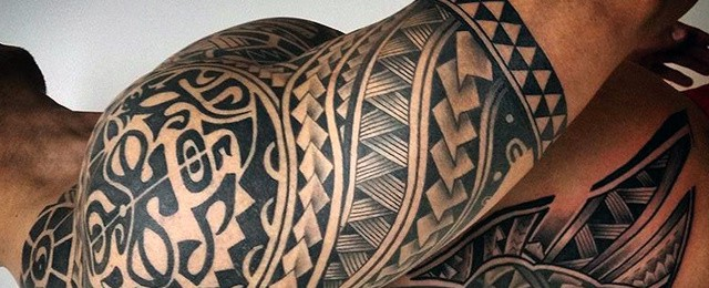 Sleeve Arm Tribal Tattoos For Men