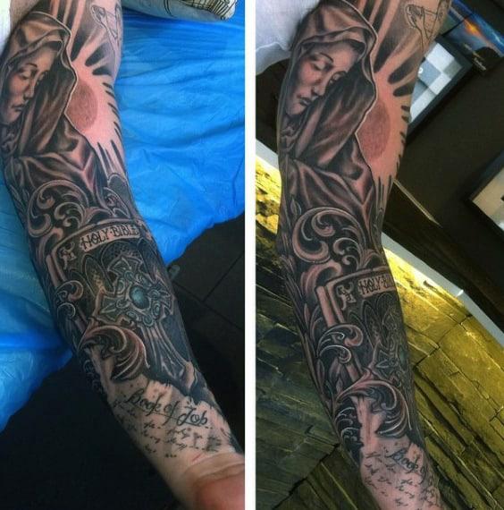 Bible Verse Sleeve Tattoo Men
