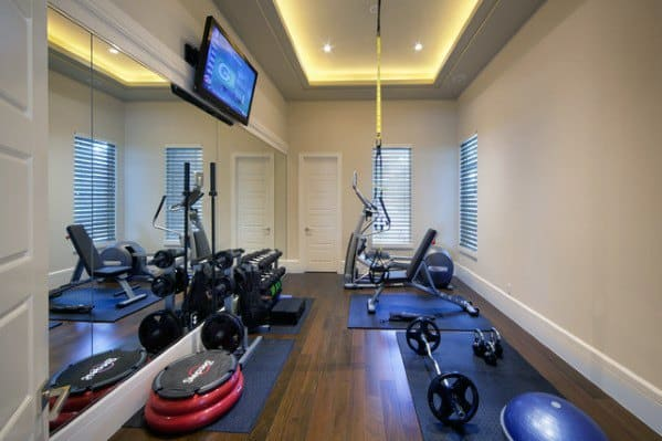 Top 40 Best Home Gym Floor Ideas Fitness Room Flooring Designs