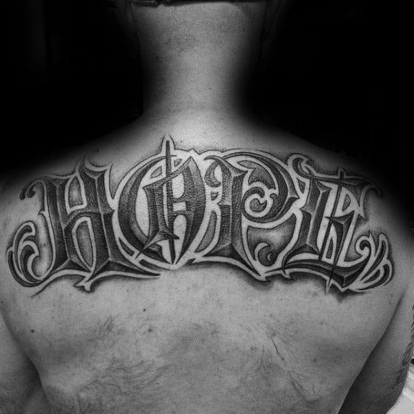 Back Tattoos 4 Letter Words. hope tattoos men - four