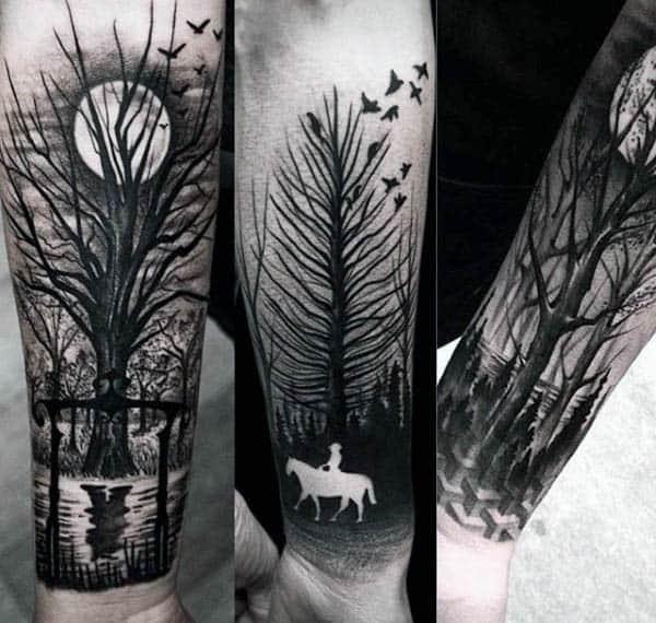 negative space tattoo design