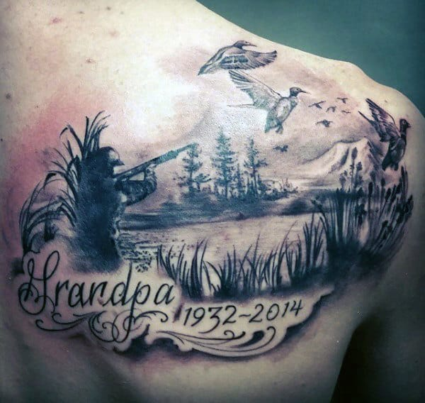 20 Hunting Memorial Tattoos For Dad Ideas And Designs