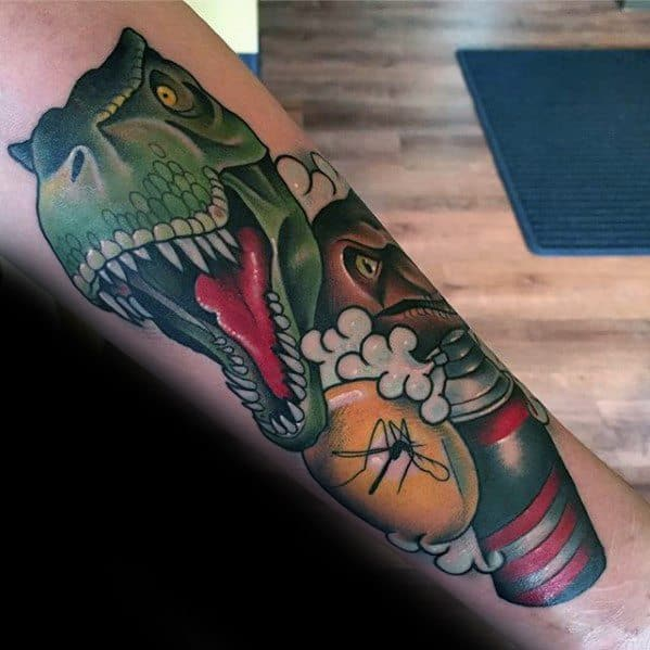 Jurassic Park Tattoo Sleeve
