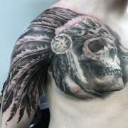 cool chest tattoos men