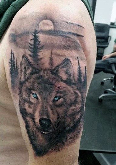 Wolf Eye Tattoo : tattoo, Tattoo, Ideas, [2021, Inspiration, Guide]