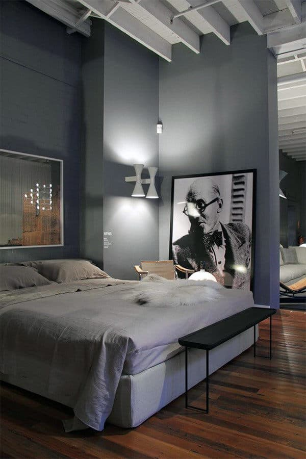 Industrial Men's Bedroom Ideas