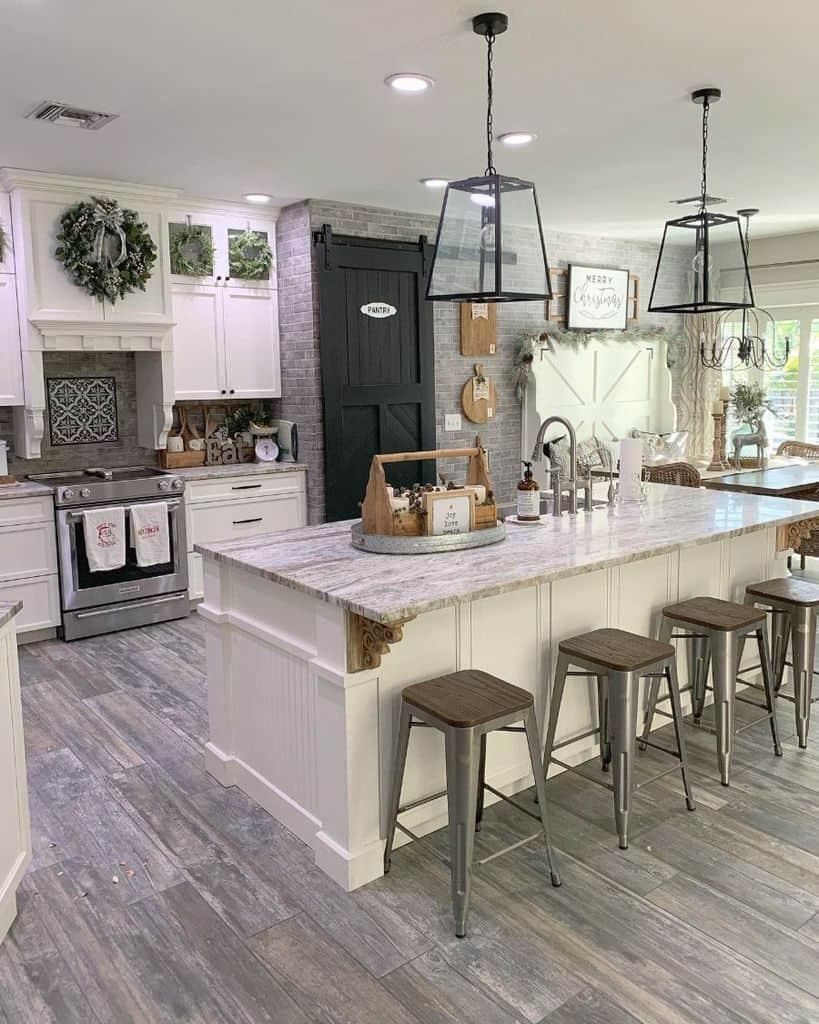 The Top 70+ Best Modern Farmhouse Kitchen - Interior Home ...
