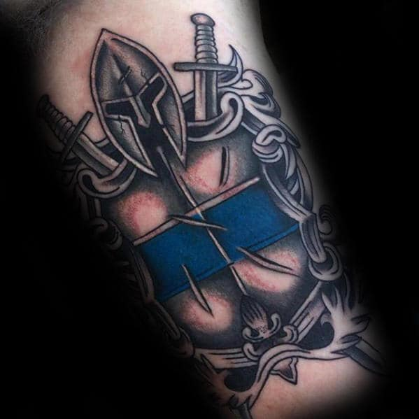 Thin Blue Line Tattoo