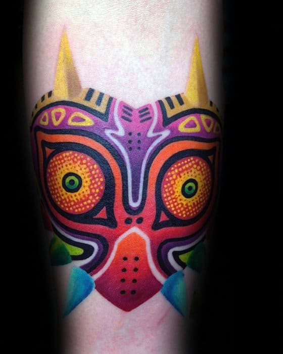 50 Majoras Mask Tattoo Designs For Men The Legend Of
