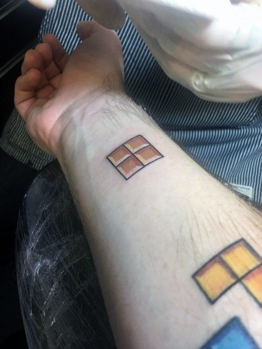 40 Tetris Tattoo Designs For Men  Video Game Ink Ideas