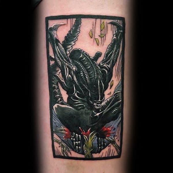 50 Xenomorph Tattoo Designs For Men  Alien Film Ink Ideas