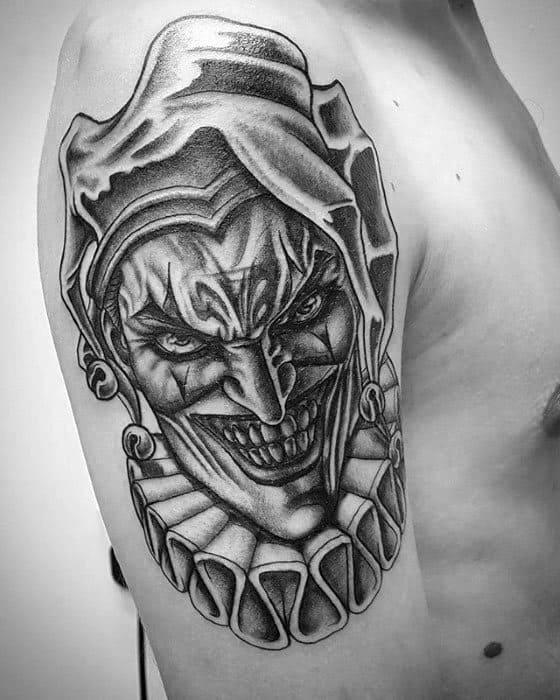 Jester tattoo   Etsy