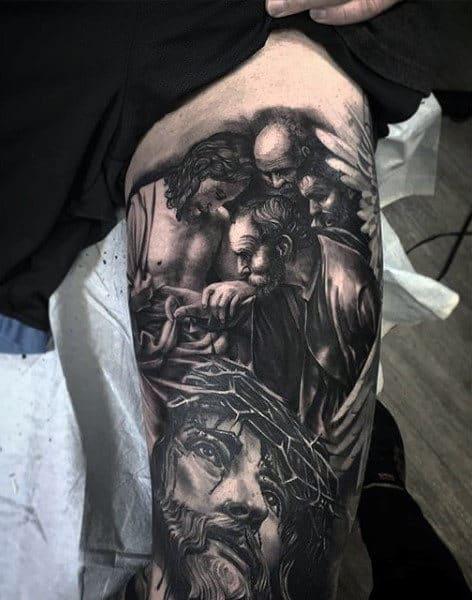 Jesus Tattoos For Men : jesus, tattoos, Jesus, Tattoo, Ideas, [2021, Inspiration, Guide]
