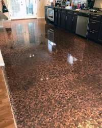 Top 60 Best Penny Floor Design Ideas - Copper Coin Flooring