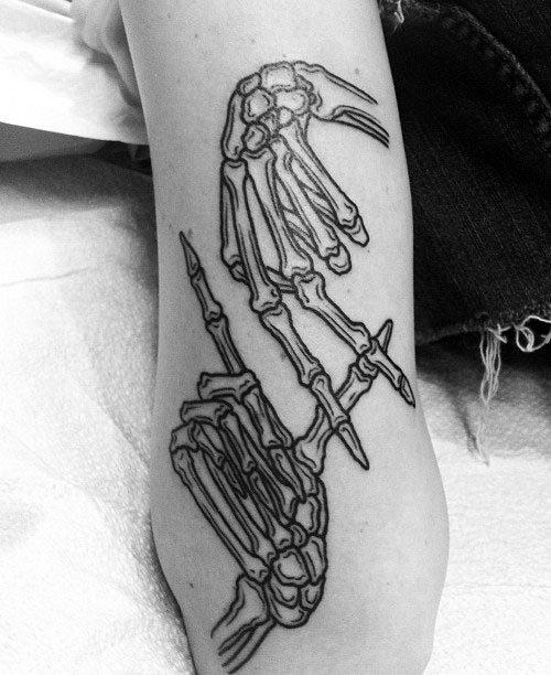 Hand Skeleton Tattoo : skeleton, tattoo, Skeleton, Tattoo, Ideas, [2021, Inspiration, Guide]