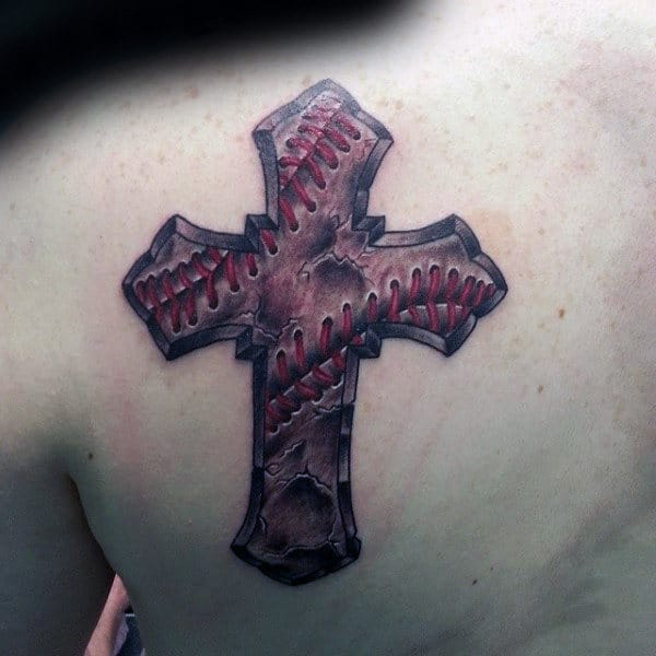 baseball cross tattoo design