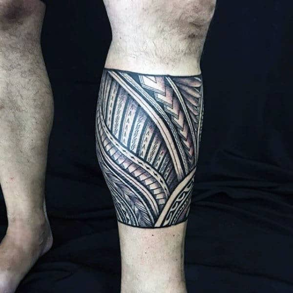 Polynesian Tribal Tattoo Leg Sleeve