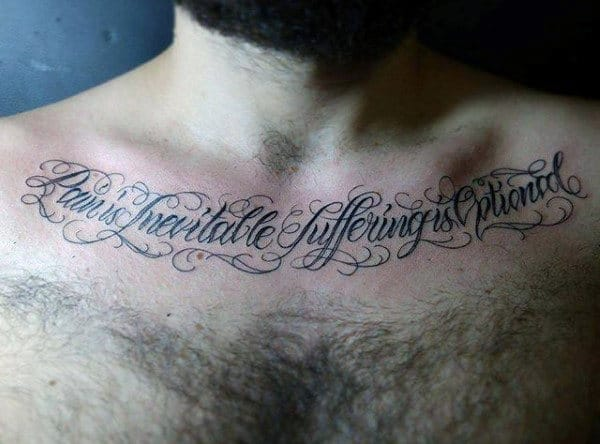 20 Male Collarbone Tattoos Ideas And Designs