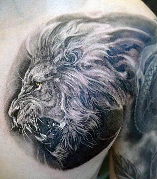 Chest Tattoos For Men Lion