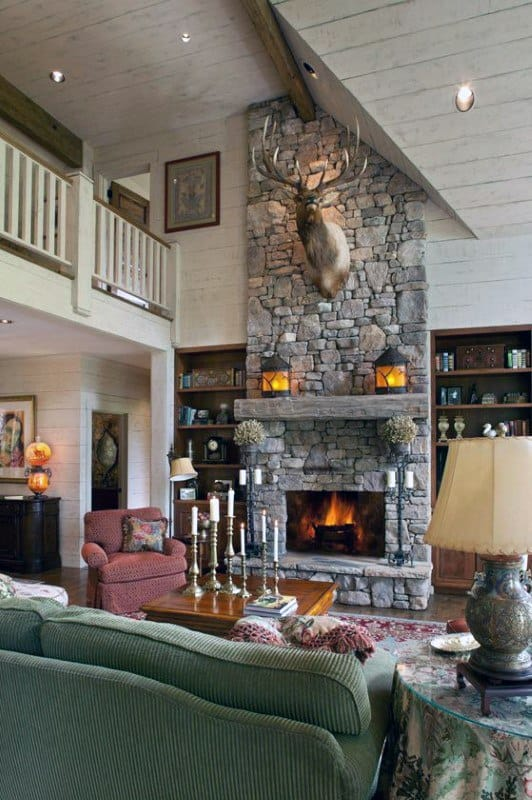 pictures of living rooms with stone fireplaces wall units room india top 70 best fireplace design ideas rustic rock interiors