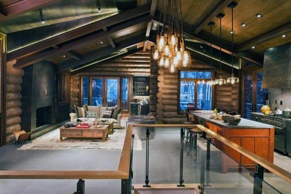 Top 60 Best Log Cabin Interior Design Ideas  Mountain