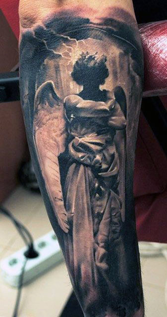 Gothic Angel Tattoo