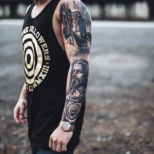 jesus arm tattoo design