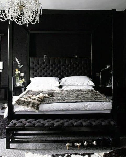 Aesthetic Bedroom Black