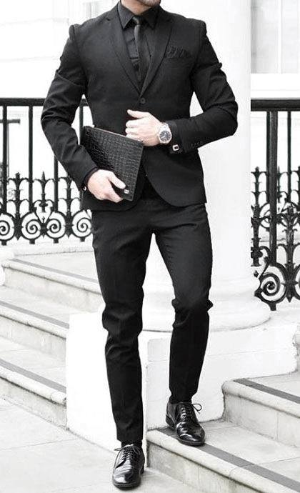 pix Black Style Formal Black Style Shirts For Men 40 all black outfits for men bold