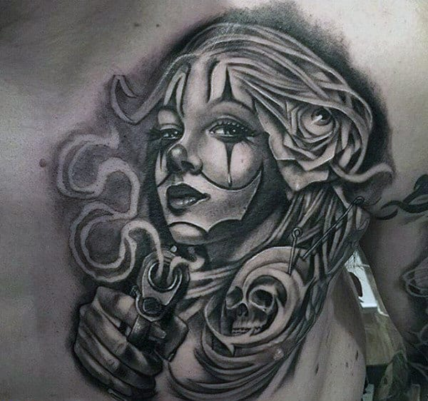 Cute Jester Girl Wallpaper 100 Black And Grey Tattoos For Men Grandeur Of Gradients