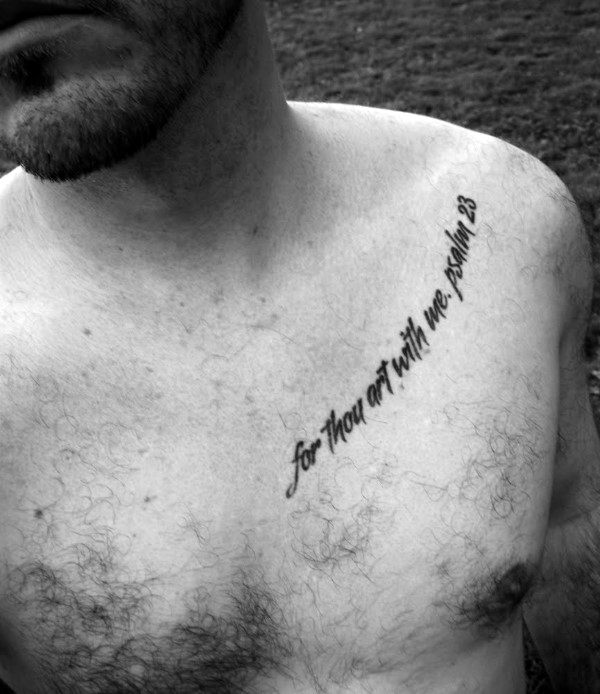 20 Collar Bone Tattoos Men Bible Verse Ideas And Designs