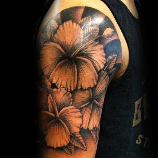 80 Hibiscus Tattoo Designs For Men - Flower Ink Ideas