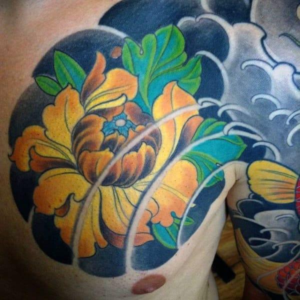 Japanese Peony Flower Tattoo Designs