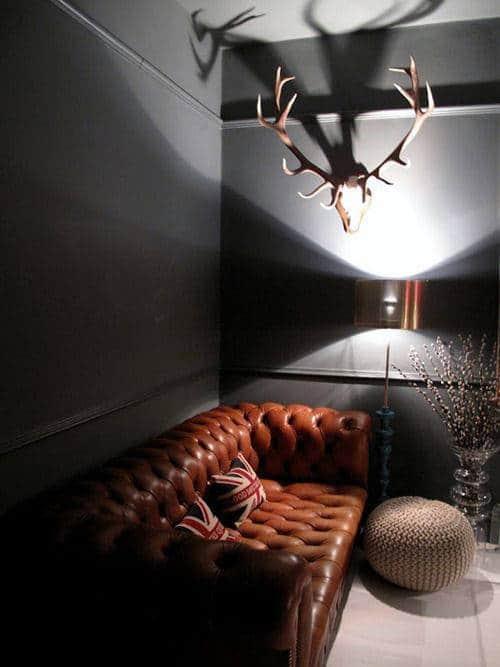 leather cigar chair bike beach holder 75 man cave furniture ideas for men - manly interior designs