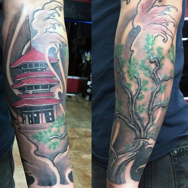 2e01976e25a82 25+ Japanese Landscape Forearm Tattoo Pictures and Ideas on Pro ...