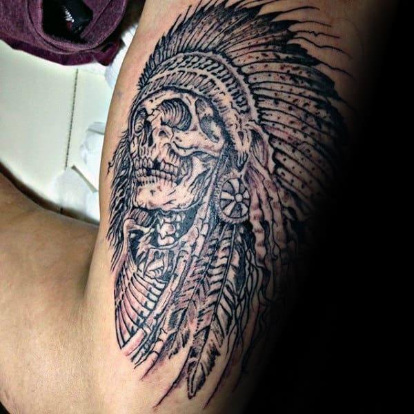Indian Skull Tattoo Designs