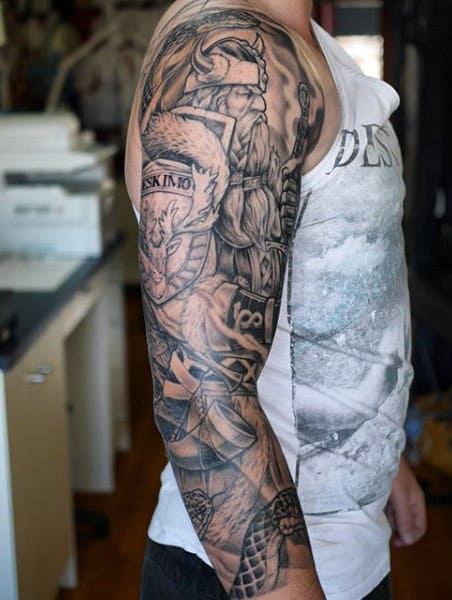 20 Norse Weapon Tattoos For Men Ideas And Designs
